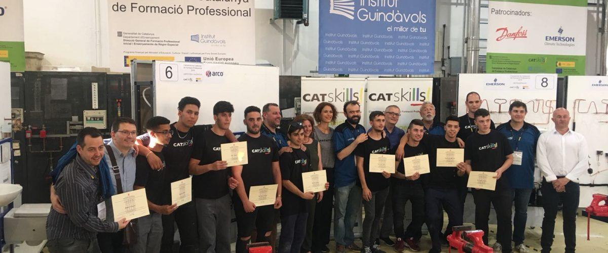 Dos alumnes del Guindàvols guanyen als campionats de Refrigeració i Lampisteria