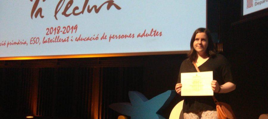 """Maria Pérez, finalista al concurs """"El gust per la lectura"""""""
