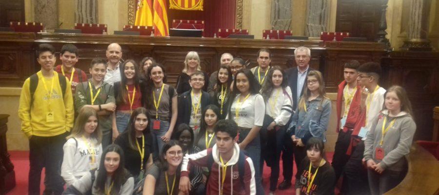 Diputats/des per un dia. Alumnat de 3r visita el Parlament i el Born.