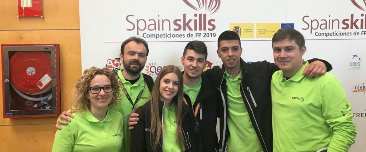 Molt bona actuació de l'equip Guindàvols al SpainSkill_2019