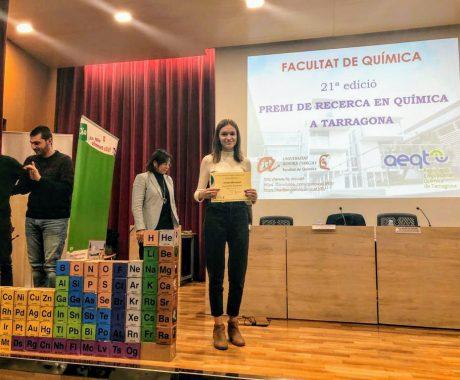 Premi de Recerca en Química per l'INS Guindàvols