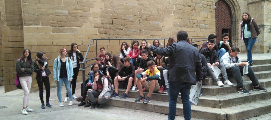 L'alumnat de 3r d'ESO fan l'itinerari del Setge de Lleida del 1707