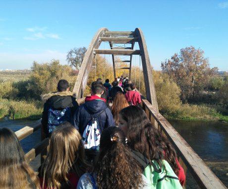 Sortida de senderisme i horta de l'alumnat de 3r i 4rt d'ESO