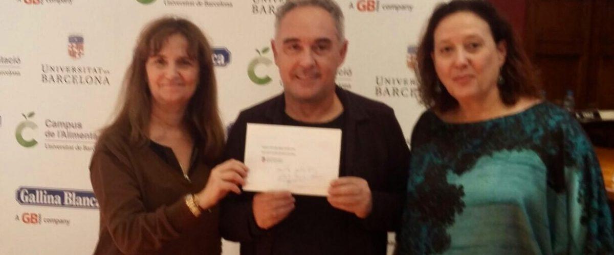 Recollim el premi UB – Ferran Adrià