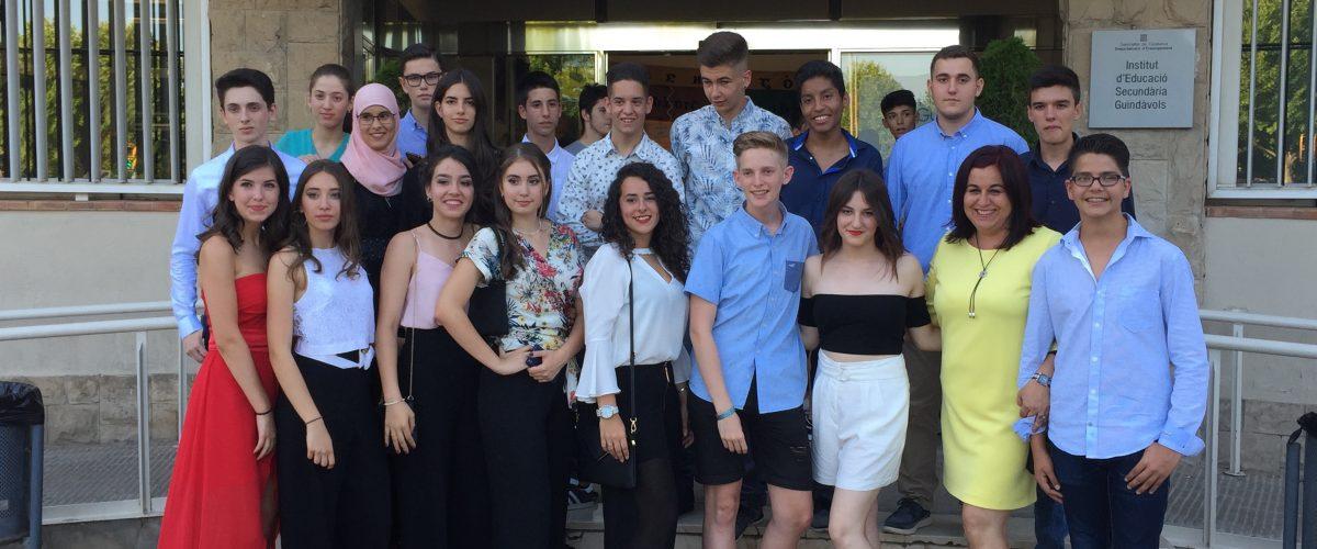 L'alumnat de 4t d'ESO celebra el final d'una etapa