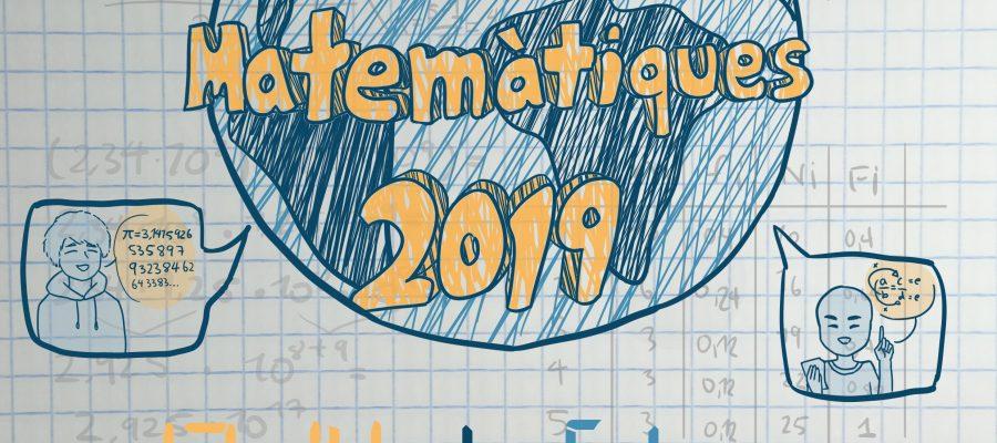 Cartell guanyador del concurs de cartells amb motiu de les Jornades Matemàtiques 2019