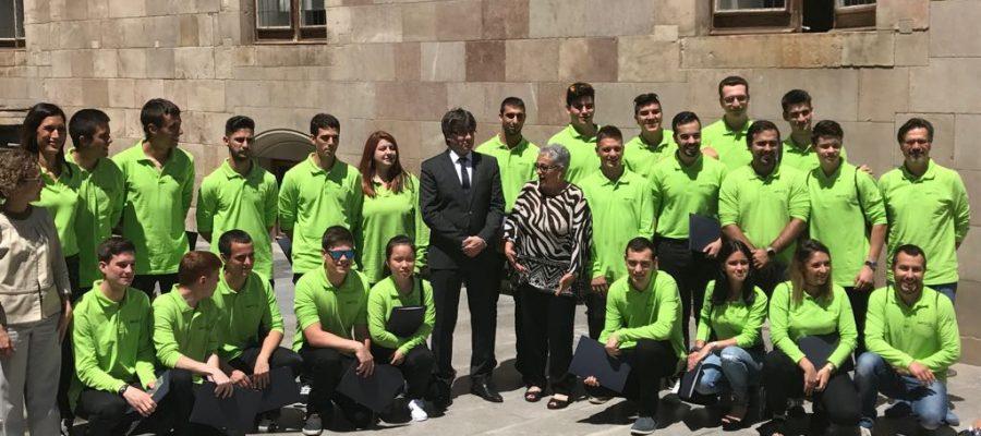 Recepció de l'equip català del campionat nacional d'FP SpainSkills