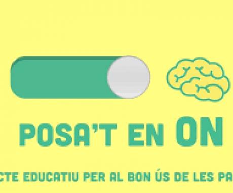 """Alumnat de 4t d'ESO participa en el concurs de vídeo càpsules """"Posa't en ON"""""""