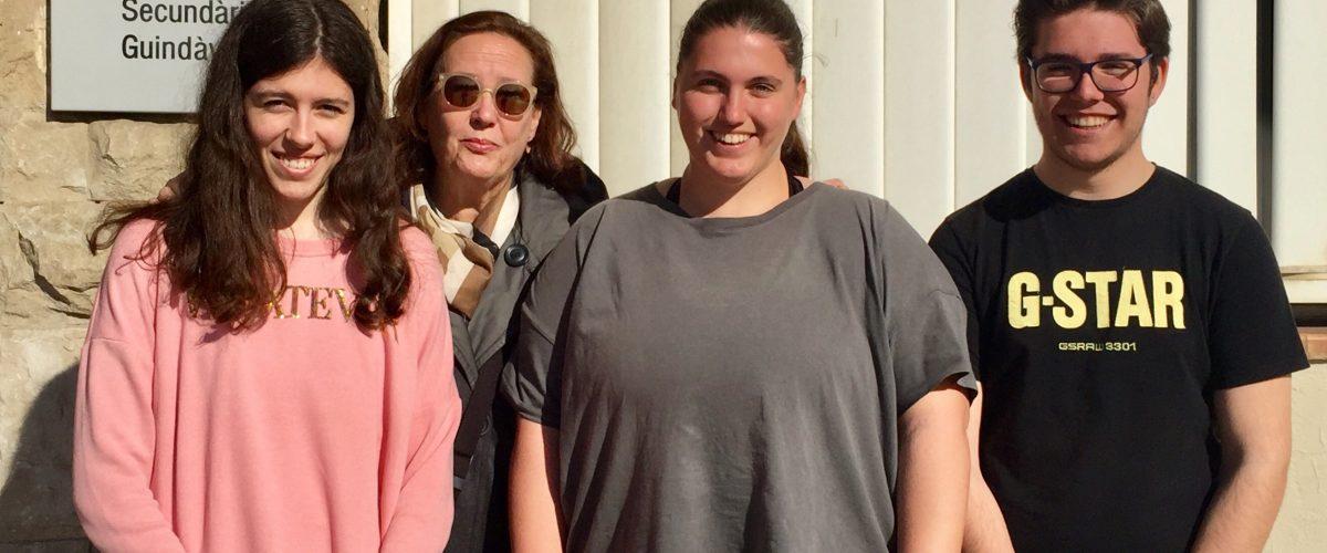 Maria, Ricard i Sara els tres guanyadors de l'Olimpiada de geologia a Lleida